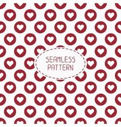 Red romantic wedding geometric seamless pattern vector