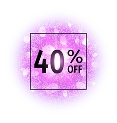 Sale banner 40 percents off vector