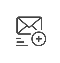 sending mail line icon vector image