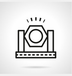 Spotlight simple line icon vector