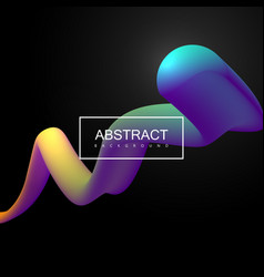 Vibrant gradient shape vector