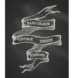 vintage chalk ribbon banner vector image vector image
