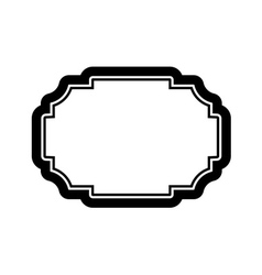 Black frame picture Beautiful design simple vector image