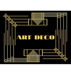 Art deco geometric vintage frame style 1920s 1930 vector