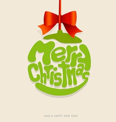 Christmas decoration created from merry christmas vector