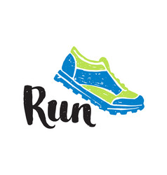 Running marathon logo jogging emblems label and vector