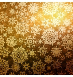 Abstract gold winter with snowflakes eps 8 vector