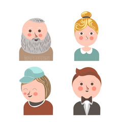 People face avatars for social net applications vector