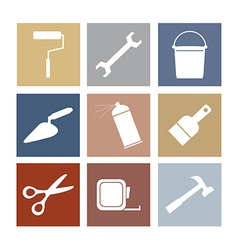Working tools icons set 9 vector