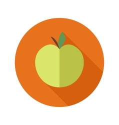 flat modern round apple icon vector image