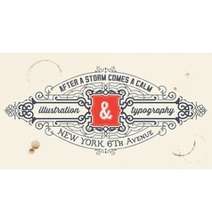 Vintage label organized by layers vector