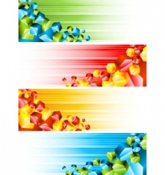 3d banners vector