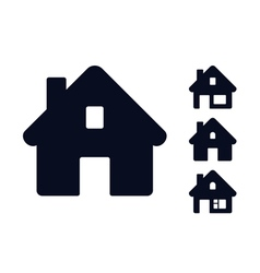 Set of monochromatic houses vector