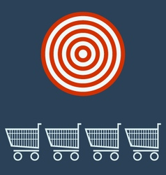 Shopping chart target concept vector