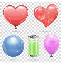 Transparent objects vector