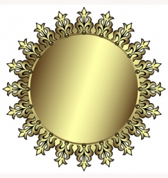 Vintage silvery round frame vector