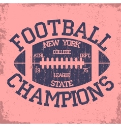 New york sport typography football logo vector