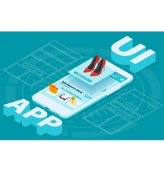 Mobile app development vector