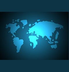 abstract world map light modern vector image
