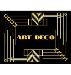 Art deco geometric vintage frame style 1920s 1930 vector