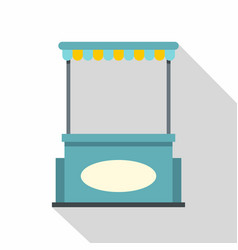Blue shopping counter with tent icon flat style vector