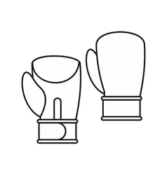 Boxing gloves icon outline style vector image