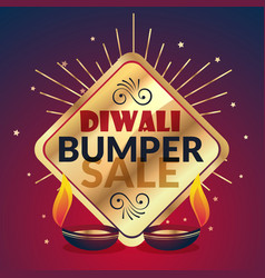 Bumper diwali sale offer and discount vector