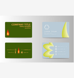 business card set template for business identity vector image vector image