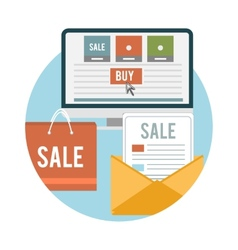 Business online sale icons vector image vector image