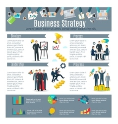 Business Strategy Infographic Set vector image