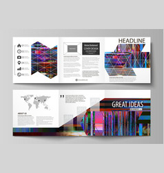 Business templates for tri fold brochures square vector