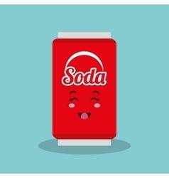 cartoon beverage drink design isolated vector image