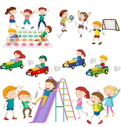 Children playing games and sports vector image vector image