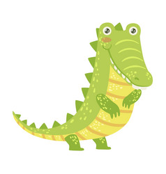 crocodile cute toy animal with detailed elements vector image