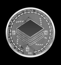 Crypto currency stratis silver symbol vector