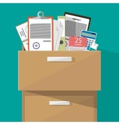 Falt Office furniture vector image
