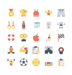 Fitness icons 4 vector