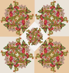 floral pattern background beauty vector image vector image