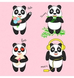 Funny cartoon panda vector image
