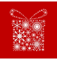 gift snowflakes vector image vector image