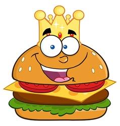 King burger cartoon vector