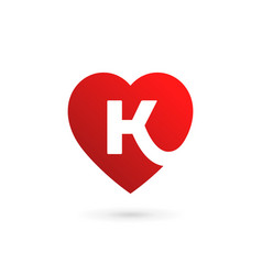 letter k heart logo icon design template elements vector image vector image
