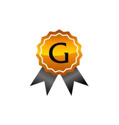 Logo quality letter g vector