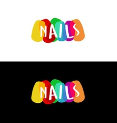 Nails colorful logo vector