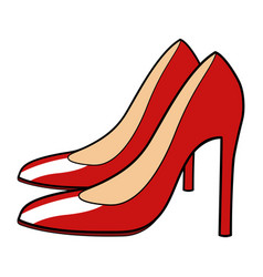 of red stiletto vector image vector image