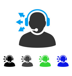 Operator answer speech flat icon vector
