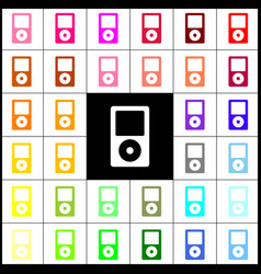 Portable music device felt-pen 33 vector