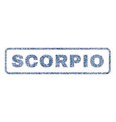 Scorpio textile stamp vector