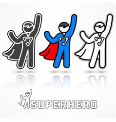 Superhero icon set vector