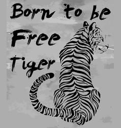 Tiger t-shirt graphic slogans design vector